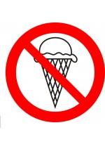 Вход с мороженным запрещен